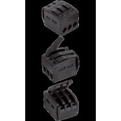 Borne à levier 3 entrées pour fil souple ou rigide - 0,75 à 2,5mm² - Flex-A-Ray