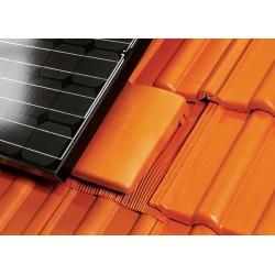 Tuile de ventilation plate universel avec accessoire - Rouge - DN 150