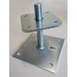 Pied de poteau réglable - 25 à 145mm